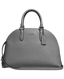 COACH Polished Pebble Leather Quinn Satchel