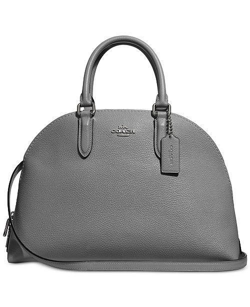 0873249aaf4 COACH Quinn Satchel in Polished Pebble Leather - Handbags ...