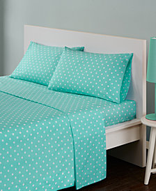 Mi Zone Polka Dot 4-PC Queen Cotton Sheet Set