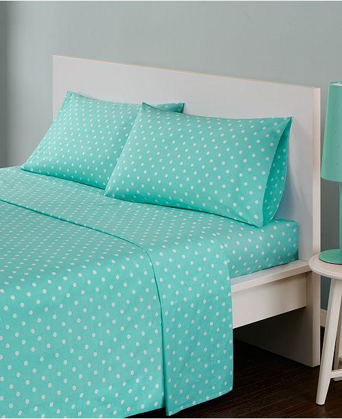 JLA Home Mi Zone Polka Dot 4-PC Queen Cotton Sheet Set
