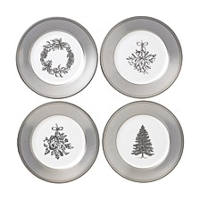 Winter White Salad Plate Set/4