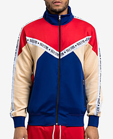 Hudson NYC Men's Classic Fit Colorblocked Track Jacket