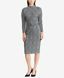 Lauren Ralph Lauren Plaid Mock Neck Dress