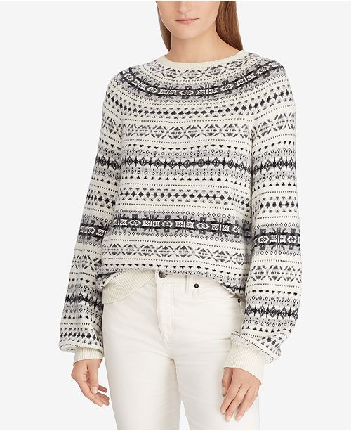 4442c3de6 Lauren Ralph Lauren Fair Isle Sweater   Reviews - Sweaters ...