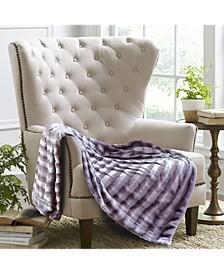 Subtle Striped Faux Fur Blanket Collection