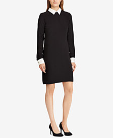 Lauren Ralph Lauren Layered-Look Crepe Dress