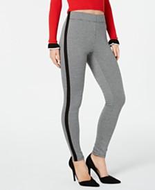 I.N.C. Shaping Tuxedo-Stripe Menswear Leggings, Created for Macy's