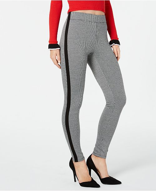 INC International Concepts I.N.C. Shaping Tuxedo-Stripe Menswear Leggings, Created for Macy's