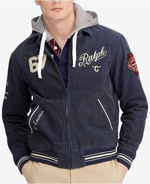 8ab44ea47 Polo Ralph Lauren Men s Embroidered Corduroy Jacket   Reviews ...