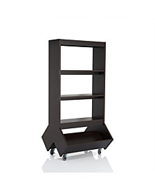Normand 3 Shelf Bookcase With Casters