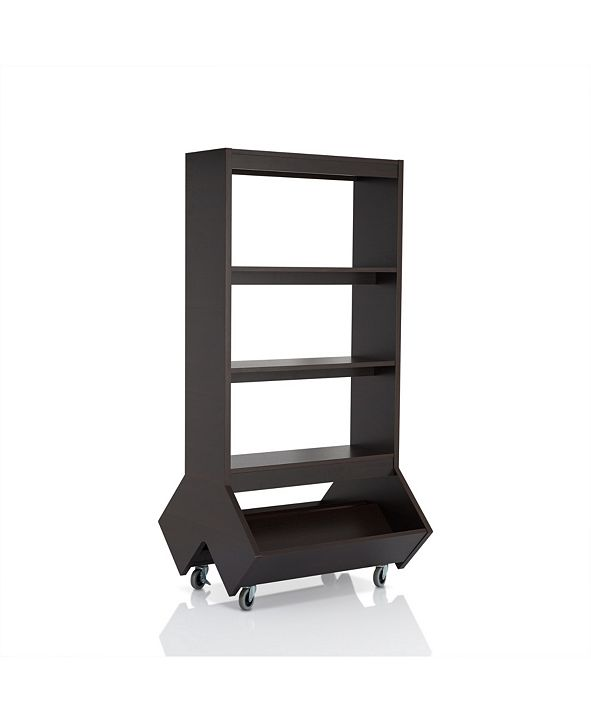 Furniture of America Normand 3-Shelf Bookcase With Casters