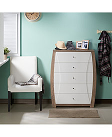 Elzi Contemporary 5-Drawer Chest