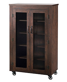 Alesia Shoe Cabinet With Casters