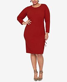 RACHEL Rachel Roy Plus Size Side-Tie Sheath Dress