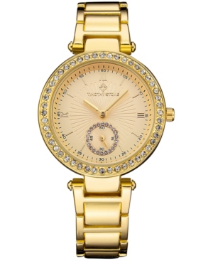 Timothy Stone Women's 'Elle' Classic Crystal Accented Bracelet Watch