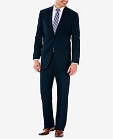 J.M. Men's Classic/Regular Fit Stretch Sharkskin Suit Separates
