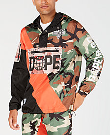 DOPE Men's Classic Fit Gamesman Anorak Jacket