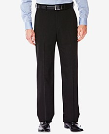 J.M. Men's Classic/ Regular Fit Stretch Sharkskin Suit Pants