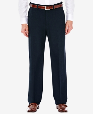 1930s Mens High Waisted Pants, Wide Leg Trousers J.m. Haggar Mens Classic Regular Fit Stretch Sharkskin Suit Pants $59.99 AT vintagedancer.com