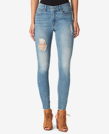 Jessica Simpson Curvy Juniors' Ripped High-Rise Skinny Jeans