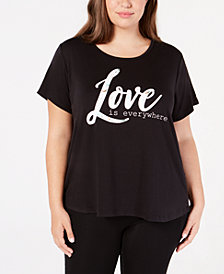 Ideology Plus Size Love Graphic T-Shirt, Created for Macy's