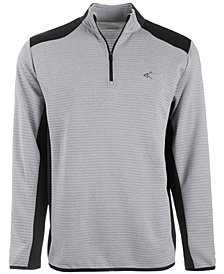 Greg Norman for Tasso Elba Men's Ottoman Quarter-Zip Shirt, Created for Macy's