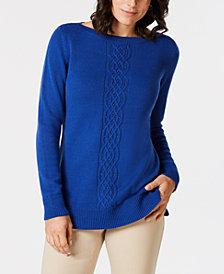 Karen Scott Bead-Embellished Sweater, Created for Macy's