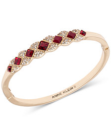 Anne Klein Crystal Bangle Bracelet, Created for Macy's