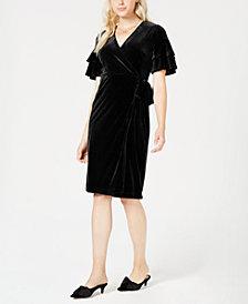 Maison Jules Velvet Wrap Dress, Created for Macy's