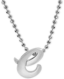 """Lowercase Initial 16"""" Pendant Necklace in Sterling Silver"""