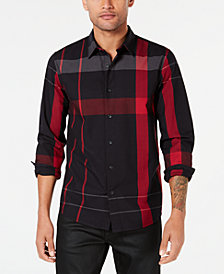 GUESS Men's Long-Sleeve Canyon Plaid Shirt