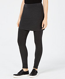 Eileen Fisher Cozy Jersey Skirted Leggings, Regular & Petite, Created for Macy's