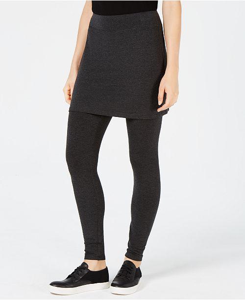 773f7c7fe0 ... Eileen Fisher Cozy Jersey Skirted Leggings, Regular & Petite, Created  for Macy's ...