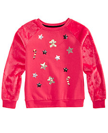 Epic Threads Big Girls Candycane Sweatshirt, Created For Macy's