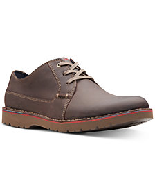 Clarks Men's Vargo Plain Leather Oxfords, Created for Macy's