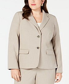 Plus Size Crepe Two-Button Blazer