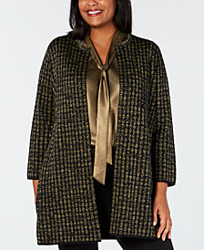 Kasper Plus Size Sweater Topper Jacket