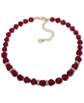 "Image of Anne Klein Faceted Bead & Crystal Collar Necklace, 16"" + 3"" extender, Created for Macy's"