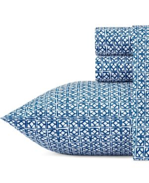 Trina Turk Cascara Aqua Queen Sheet Set Bedding 6245767