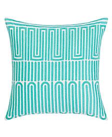 Trina Turk Racket Club Geo Aqua Square Pillow
