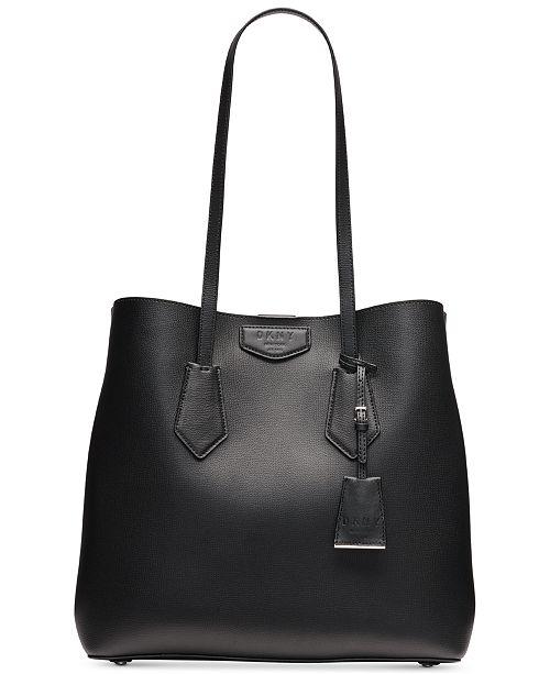 9e8bb1097 DKNY Sullivan Leather Tote, Created for Macy's & Reviews - Handbags ...