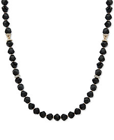 "Anne Klein Faceted Bead & Crystal 42"" Statement Necklace, Created for Macy's"