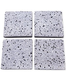 CLOSEOUT! Thirstystone Gray Terrazzo Marble Coasters, Set of 4