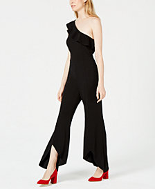 Bar III One-Shoulder Wide-Leg Jumpsuit, Created for Macy's
