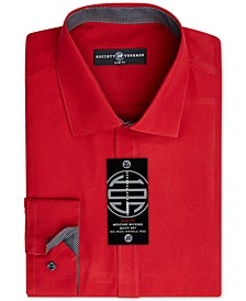 Men's Slim-Fit Non-Iron Performance Solid Dress Shirt