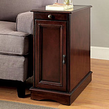 Transitional Side Table With USB
