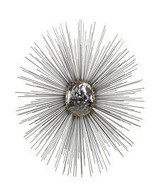 Silver Sun Metal Wall Decor
