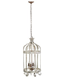 Imre 4-Light Bird Caged Inspired Metal Chandelier
