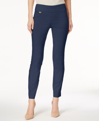 Image of Alfani Tummy-Control Pull-On Skinny Pants, Created for Macy's