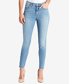 WILLIAM RAST Sculpted Snap High-Rise Skinny Jeans